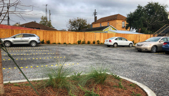 permeable paving system - truegrid permeable mid city new orleans